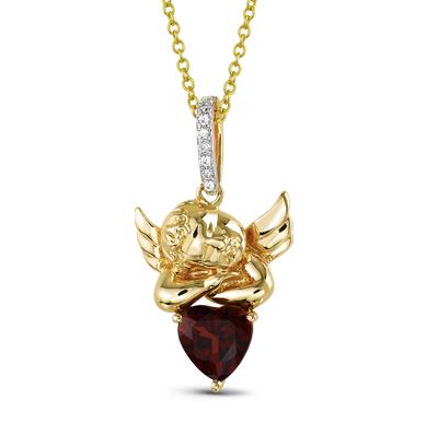 Фото «золотая подвеска с бриллиантами и гранатами»