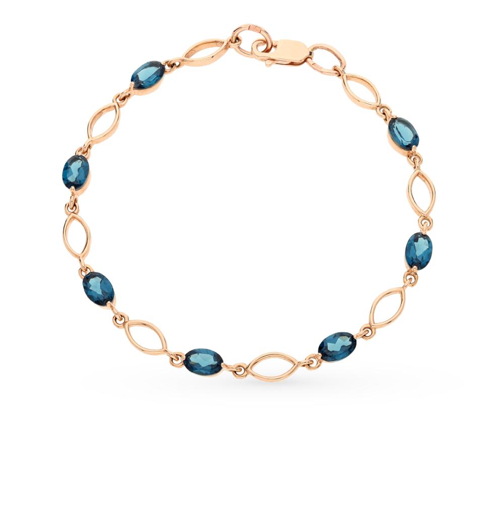 Фото «золотой браслет с шпинелями синтетическими»