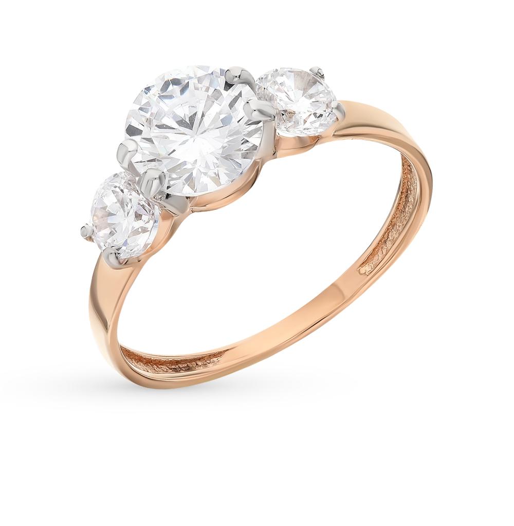 кольца розовое золото