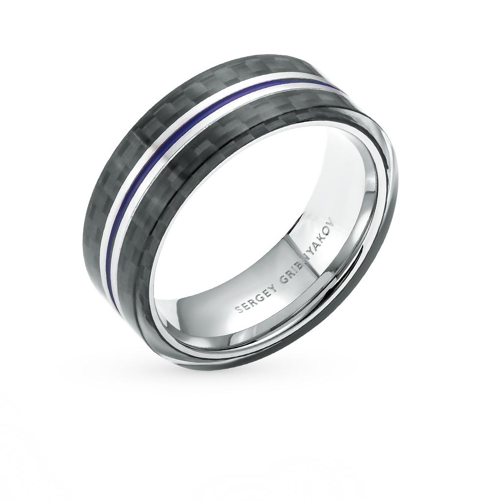 Фото «кольцо из стали с карбоном, сталью и эмалью»