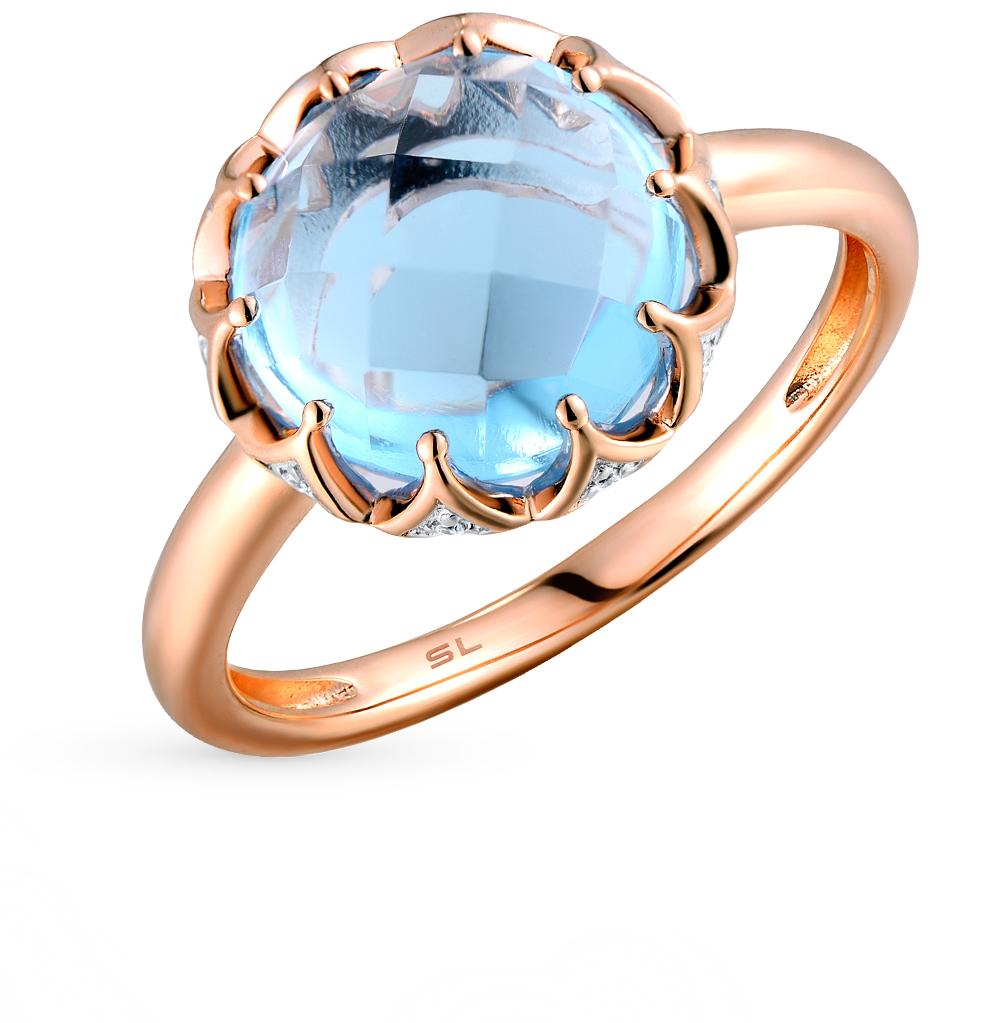 Фото «золото кольцо с топазами и бриллиантами»