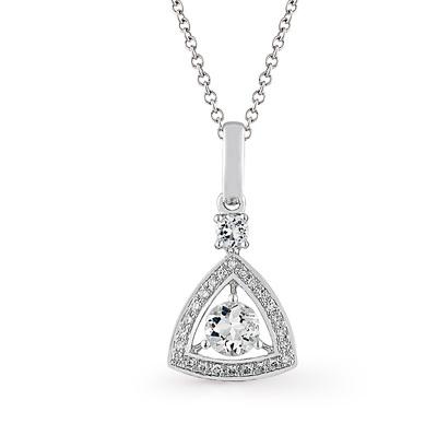 Фото «золотая подвеска с бриллиантами и топазами»