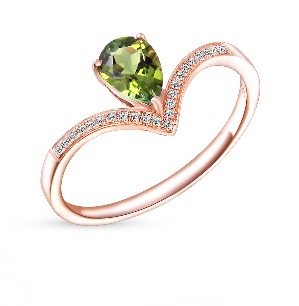 Фото «золотое кольцо с бриллиантами и турмалинами»