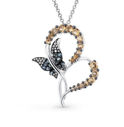 Фото «золотая подвеска с бриллиантами, цитринами и топазами»