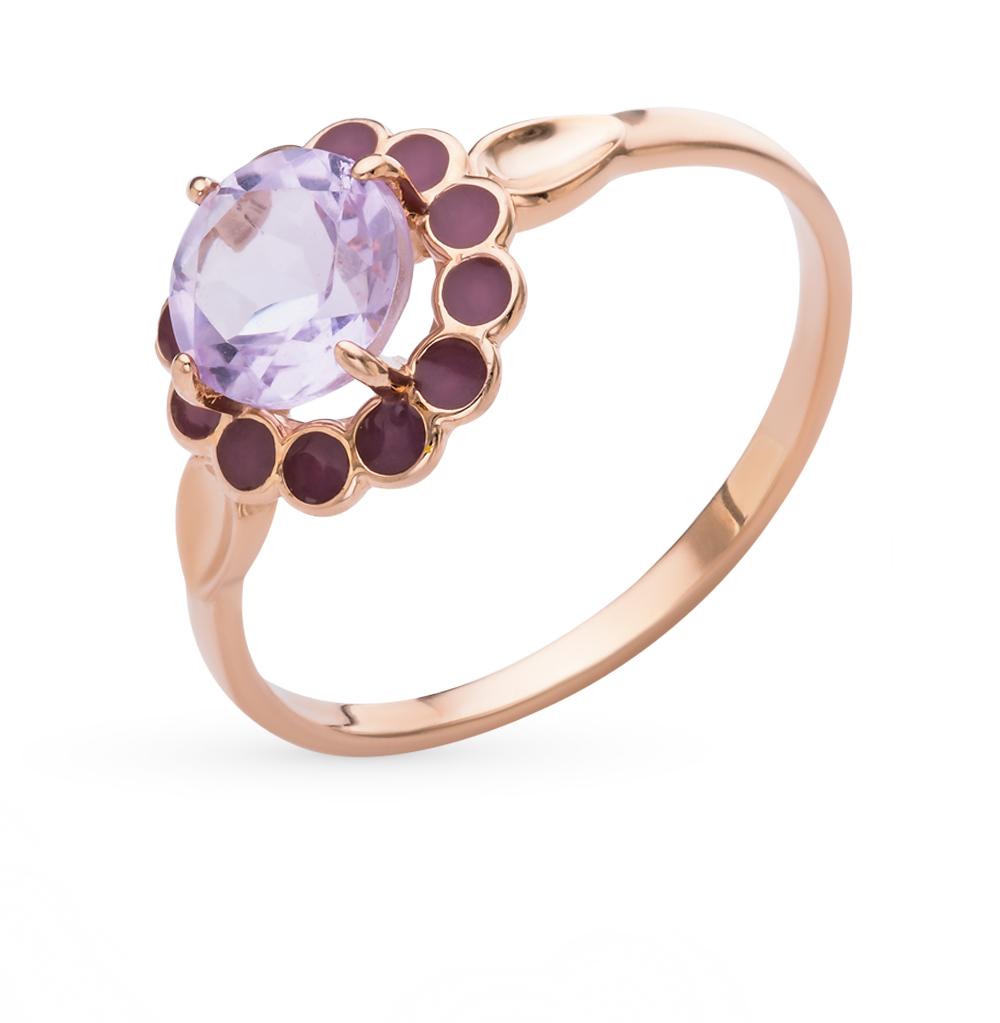 Фото «золотое кольцо с аметистом и эмалью»