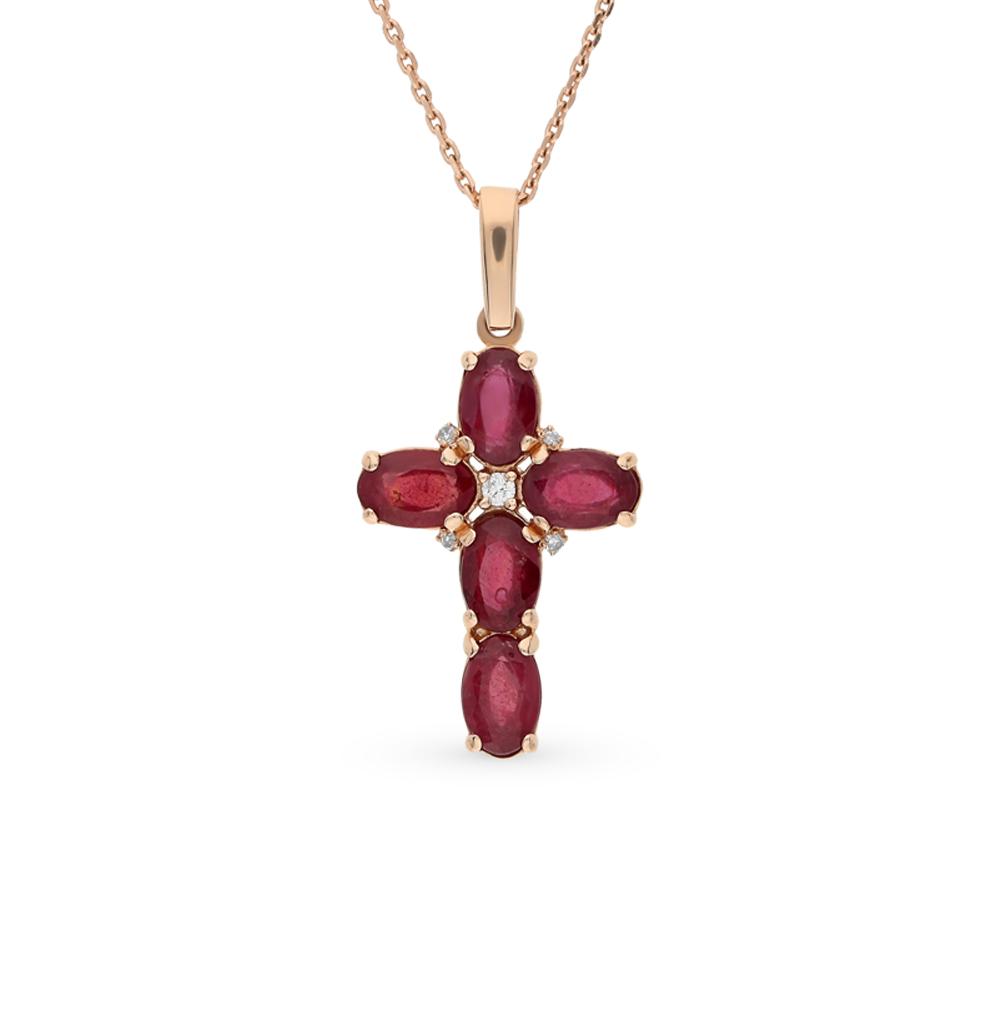 Фото «золото подвеска с бриллиантами и рубинами»