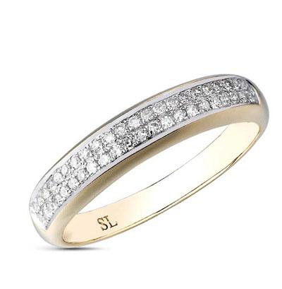 Фото «серебряное кольцо с бриллиантами, фианитами и жемчугом»