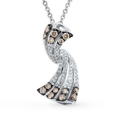 Фото «золотая подвеска с коньячными бриллиантами и бриллиантами»