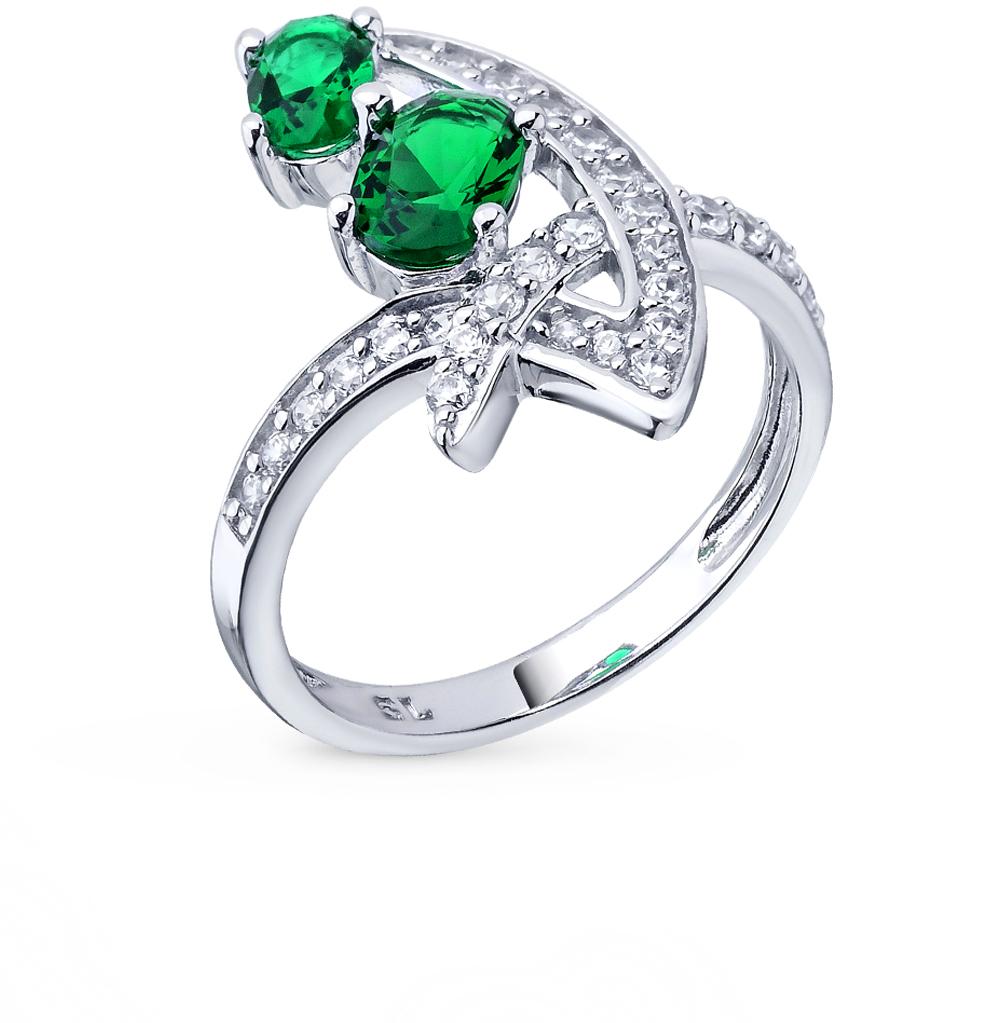 Фото «серебряное кольцо с алпанитом и фианитами»