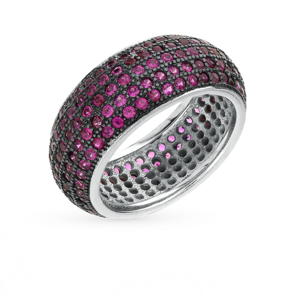 Фото «серебряное кольцо с шпинелями синтетическими»